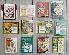 12 Handmade  Female Birthday greeting cards envelopes Stampin' Up! +more