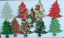 Classic Christmas Trees in Pots Fabric Pack remnants patchwork bundle 100%cotton