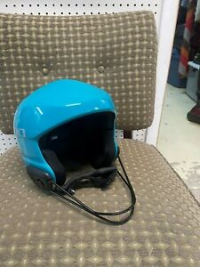Ski racing helmet, face guard included; heavy duty; gently used, minor scratches