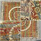 """Silk Jacquard Tapestry Islamic Spanish Moorish; Piano Shawl, Throw 1940s 62x100"""""""