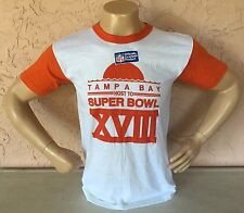 Vintage Tampa Bay Host To Super Bowl XVIII 1984 Ringer Shirt Sz L By Trench  NEW d9f125919