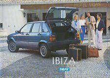 Seat Ibiza folleto 1987 brochure auto turismos auto folleto folleto España