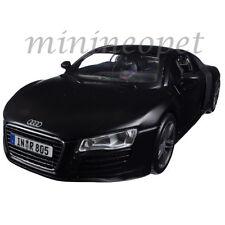 MAISTO 31281 AUDI R8 1/24 DIECAST MODEL CAR MATTE BLACK