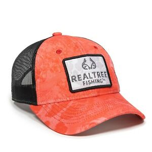 NEW/Tags Ladies Outdoors Baseball Style Hat, Fishing WAV3 Coral Adult
