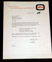 Disneyland Walt Disney 1965 Pepsi Commercial Correspondence MPO BBDO Advertising