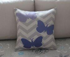 Zigzag Chevron Butterfly Cotton Linen Cushion Cover Throw Pillow Home Decor B544