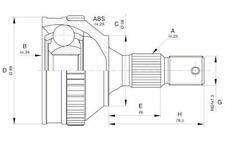 OPEN PARTS Tête de cardan Côté roue pour CITROEN XSARA BERLINGO CVJ5592.10