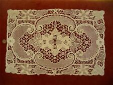 Handmade Antique Vtg Point De Venise Needle Lace Dresser Scarf Runner Placemat