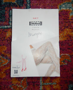 Wolford Recycled Yarn Morgan Black Floral Lace Tights S