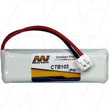CTB103 2.4V NiMH Cordless Phone Battery