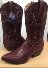 Muro Men's  Western Boots 10613 Brown Leather  Lizard  size 10.5 NEW