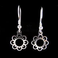 FASHIONS FOREVER® 925 Sterling Silver Sunflower Hook/Wire Earrings Handmade UK