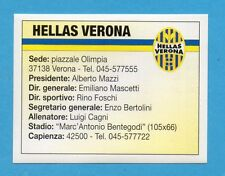 BOLOGNA 96/97 - EDILAND -Figurina n.119- HELLAS VERONA - (le avversarie) -NEW