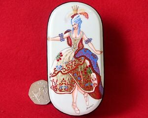 Russian LACQUER Box Fairy Carnation SLEEPING BEAUTY BAKST BALLET Hand Painted