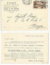 viset saponi profumi bossi & de simone milano cartolina 1933