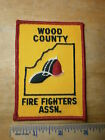 WOOD COUNTY OHIO FIRE FIGHTERS ASSOCIATION PATCH Rescue Fireman Department