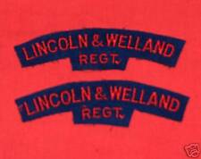 LINCOLN&WELLAND REGIMENT CANADA Cloth Shoulder Flashes