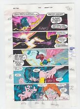 THE NEW TITANS #84 PAGE 14 ORIGINAL COMIC PRODUCTION ART NIGHTWING SIGNED w/COA
