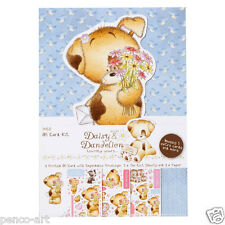 Docrafts Daisy & Dandelion decoupage valentine love A5 card pack