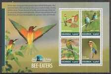 UG016 UGANDA SALE BIRDS BEE-EATERS BIRD WATCHING FAUNA #3225-3228 MNH