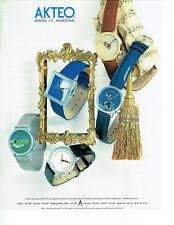 Publicité Advertising 068  1995   montres Akteo  design JC Mareschal