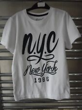 Boys Top - T shirt age 7-8 years - short sleeved 'n.y.c.new york 1986' cotton