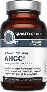 HOT SALE - Premium Kinoko Platinum AHCC - 750mg of AHCC per Capsule 60 Caps
