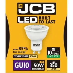 5W = 50W LED GU10 Reflector Spotlight Light Bulb Warm White 50 Watt JCB