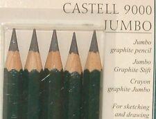 Faber Castell 9000 Series Jumbo Graphite Pencil 5 pc Set HB 2B 4B 6B 8B