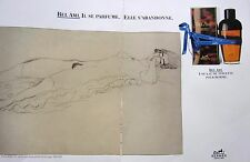page  de publicité   PARFUM BEL AMI de HERMES   en 1987  N° 45354