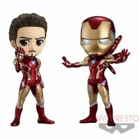Banpresto Q posket MARVEL IRON MAN Battle ver. Figure set Japan Avengers