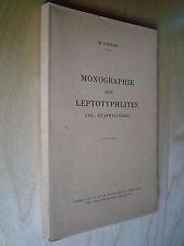 Coiffait Monographie Leptotyphlites Staphylinidae revue française entomologie