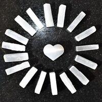 Natural Selenite Crystal Sticks [68 - 80 Wands]  2 LBS + Selenite Puffy Heart