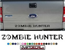 Truck Tailgate Zombie Hunter Bed Decal Graphic Letters 4x4