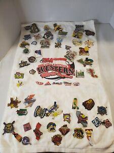 HUGE LOT 55 Girls Fastpitch softball hat lapel pin pins towel World Series NSA