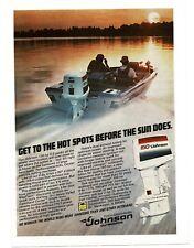 1979 JOHNSON 150 HP Outboard Boat Motor VTG PRINT AD