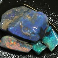 25.3 cts Australian Black Opal Rough, Lightning Ridge Parcel,  Stones