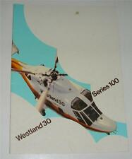Old sales brochure / booklet for Westland 30 series 100 helicopter .