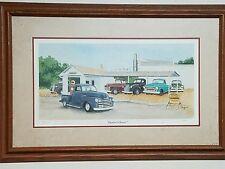 """Dealers Choice"" Signed Print by Arlen Olson Vintage Trucks"