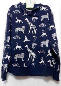 H and M Youth Kids Boys Girls Animal Print Hoodie Sweat Shirt 8 - 10 Y Blue