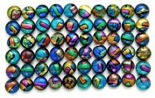 MULTI COLORS Lot 60 pcs gorgeous DICHROIC earring bracelet FUSED GLASS (BD4)