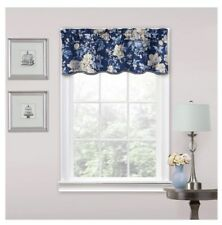 "Floral Window Valance Blue (16""x52"") - Traditions by Waverly"