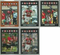 Atlanta Falcons 5 card 2008 Topps Chrome REFRACTORS/XFRACTORS lot-all different