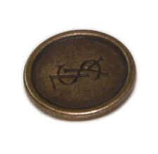 Org YSL Yves Saint Laurent metal Replacement pocket sleeve button .60""