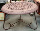 Late 19th Century American Victorian Cast Iron Floor Register Grate Top Table