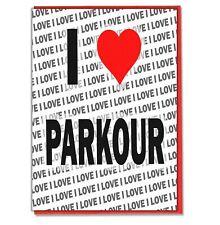Greeting Card - Birthday Card - I Love Parkour