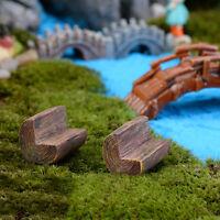 Kids Toy Doll House Miniature Fairy Garden Mini Chair Bench DIY Lawn Decor