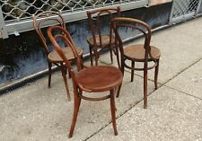 4 chaises de bistrot anciennes bois courbé Thonet baumann Kohn