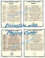 Reading Tarot Divination Using Playing Cards 4pgs fr Pagan Spell Book of Shadows
