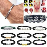 Magnetic Bracelet Beads Hematite Stone Therapy Health Care Weight Loss Jewellery